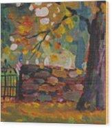 Cemetery Gate Wood Print