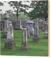 Cemetery Grunge Wood Print