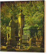 Cemetery In Charleston Wood Print