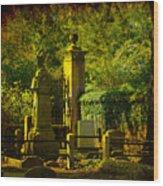 Cemetery In Charleston Wood Print