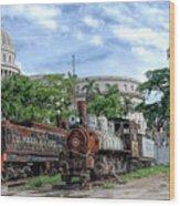 Cemetery Of Railway Wood Print
