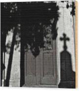 Cemetery Shadow Wood Print