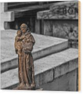 Cemetery Statue Wood Print