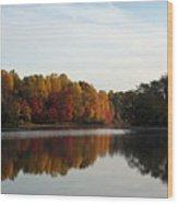Centennial Lake Autumn - Fall Dressing Wood Print