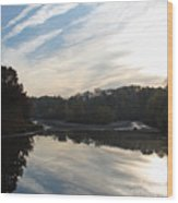 Centennial Lake Autumn - Great View From The Bridge Wood Print