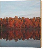 Centennial Lake Autumn - In Full Autumn Bloom Wood Print