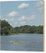 Centennial Lake Kayaks Wood Print