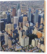 Center City Philadelphia Large Format Wood Print by Duncan Pearson