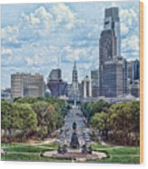 Center City Philly Wood Print
