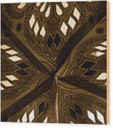 Center Of Star  Wood Print