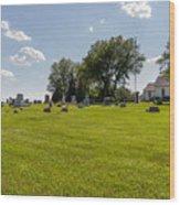 Center Ridge Cemetery Wood Print