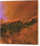 Center - Triptych - Stellar Spire In The Eagle Nebula Wood Print