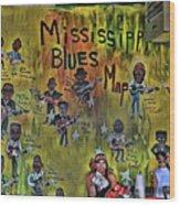Central B B Q # 3- Memphis Wood Print