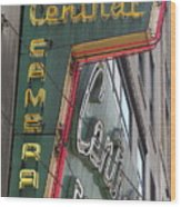 Central Camera Wood Print