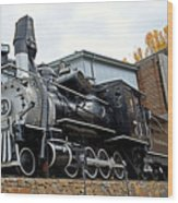 Central City Locomotive Wood Print