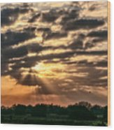 Central Florida Sunrise Wood Print