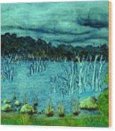 Central Highland's Lake. Wood Print