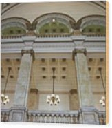Central Library Milwaukee Interior Wood Print