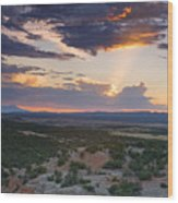 Central New Mexico Sunset Wood Print