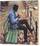 Central Park Musician Wood Print