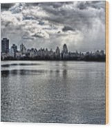 Central Park Resevoir Panorama Wood Print