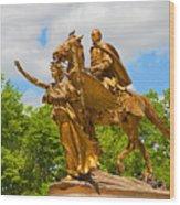 Central Park Sculpture-general Sherman Wood Print