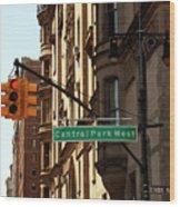 Central Park West Wood Print