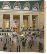 Central Station New York  Wood Print