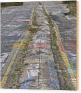 Centralia Graffiti Highway Wood Print