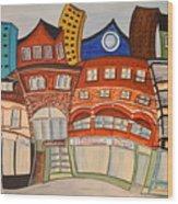 Centre Town Wood Print