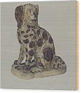 Ceramic Coach Dog Wood Print