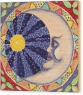 Ceramic Moon Wood Print by Anna Skaradzinska