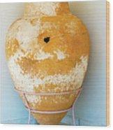 Ceramic Pot From Olympia. Wood Print
