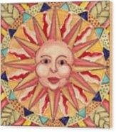 Ceramic Sun Wood Print by Anna Skaradzinska