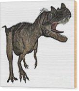 Ceratosaurus Dinosaur Roaring Wood Print