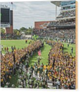 Ceremonial Running Of The Baylor Line Wood Print
