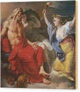 Ceres Begging For Jupiter's Thunderbolt After The Kidnapping Of Her Daughter Proserpine Wood Print