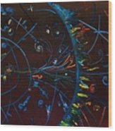 Cern Atomic Collision  Physics And Colliding Particles Wood Print