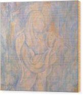 Cerulean Melody Wood Print