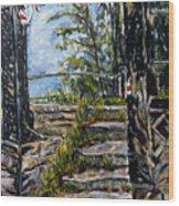 Cervenou Nahoru Wood Print