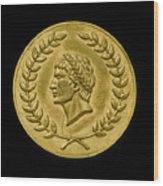 Julius Cesar Roman Coin Wood Print