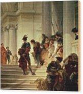 Cesare Borgia Leaving The Vatican Wood Print by Giuseppe Lorenzo Gatteri