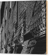 Cesena In Black And White Wood Print