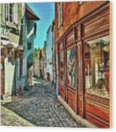 Cesky Krumlov Alley Wood Print