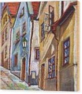 Cesky Krumlov Old Street 2 Wood Print