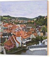 Cesky Krumlov Overview 2 Wood Print