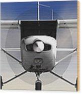 Cessna 152 Flying High Wood Print