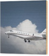 Cessna 680 Wood Print