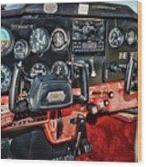 Cessna Cockpit Wood Print