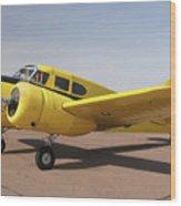 Cessna T-50 Bobcat N59188 Casa Grande Airport Arizona March 5 2011 Wood Print